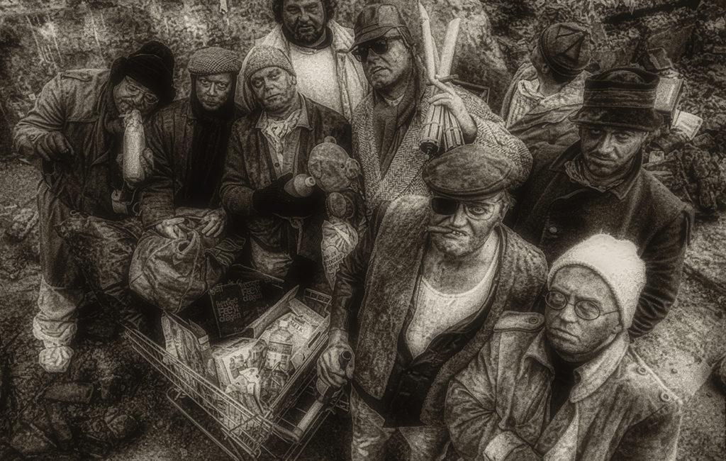 Menschen und Interieur in Schwarzweißfotografie