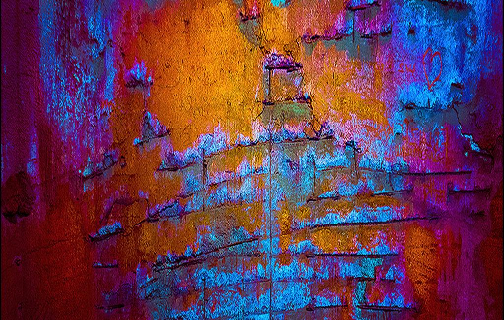 Blaurote Wand